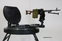 Turret Ring with PK10 Gun Mount and PKM MG